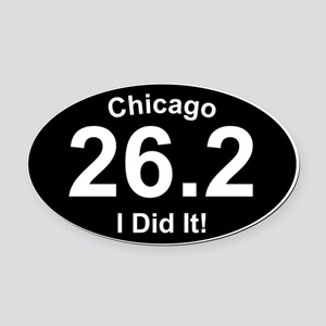 Chicago Marathon Oval Car Magnet